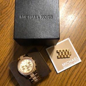 Michael Kors Watch Gold and Light Pink